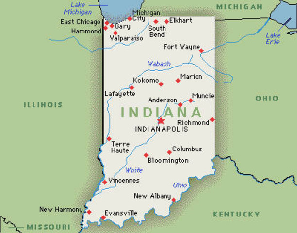 Indiana became a state
