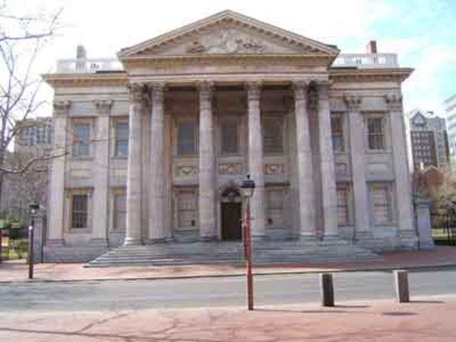 1st savings banks were founded at Philadelphia and Boston