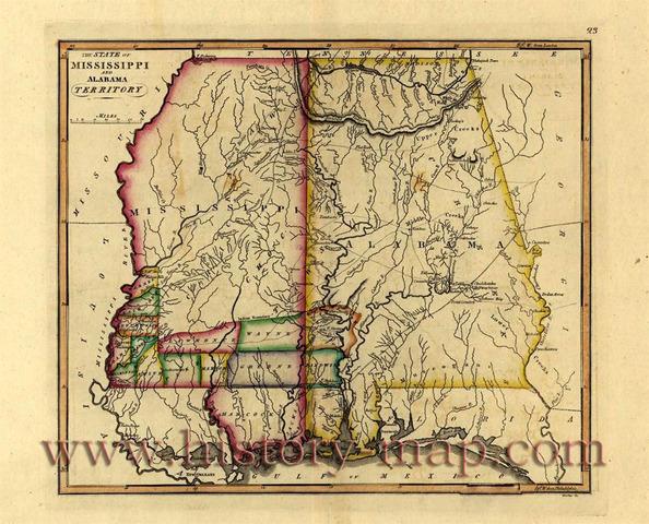 Congress organized the Alabama Territory
