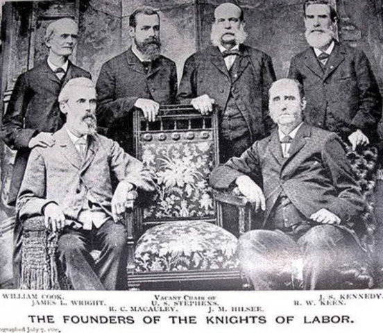 noble order of the knights labor formed
