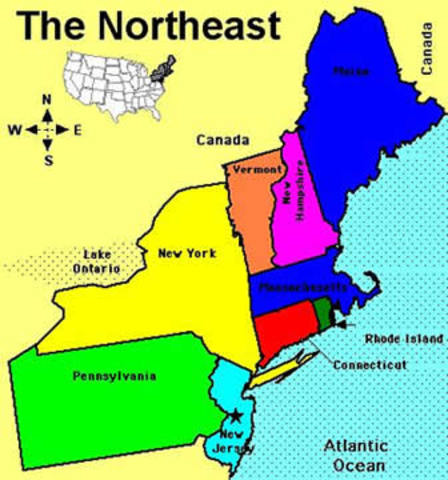 Usa Northeast Region Country Editable Powerpoint Maps With States
