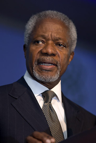 U.N. Secretary General Kofi Annan declares Iraq war illegal