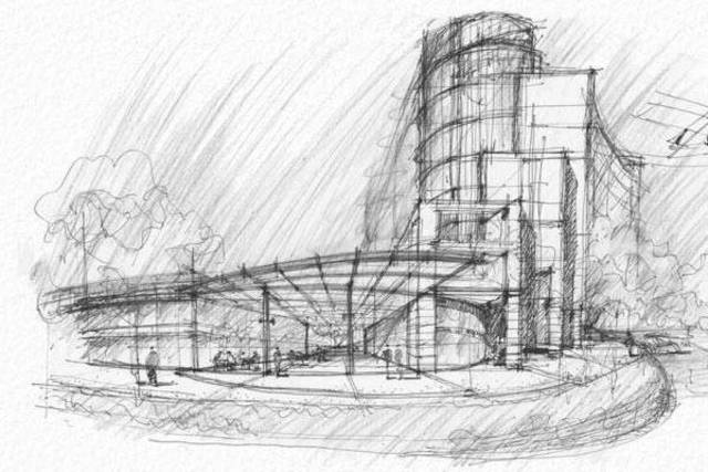 dibujo arquitectonico fecha no muy clra