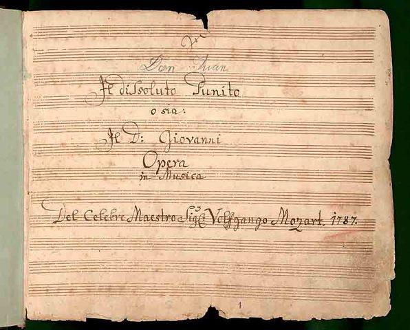 """Mozart's """"Don Giovanni"""" Premiered in Prague"""