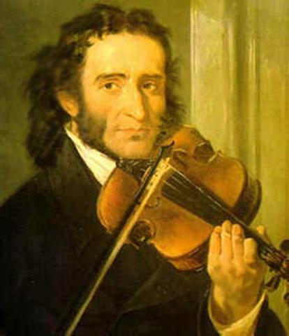 Paganini Begins to Tour Europe as Violin Virtuoso