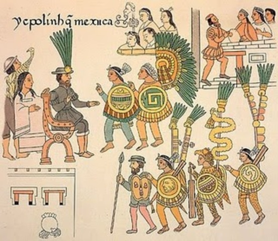 The last group of Aztecs surrender