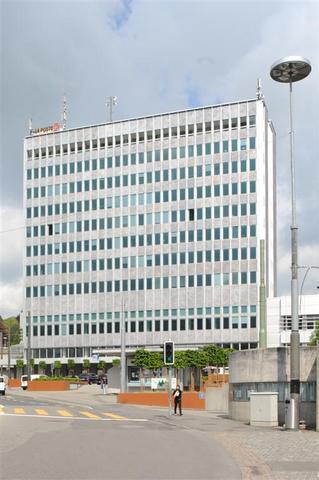 Construction des PTT, l'actuelle poste centrale de Fribourg