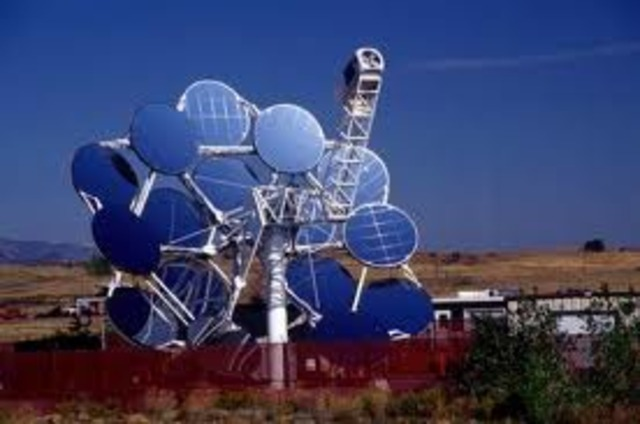 THE FIRST SOLAR DISH