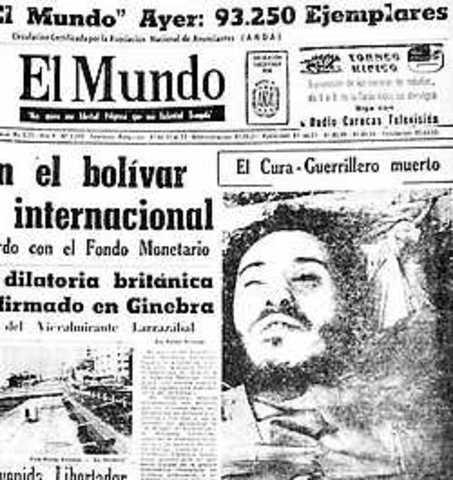 MUERTE DEL SACERDOTE CAMILO TORRES
