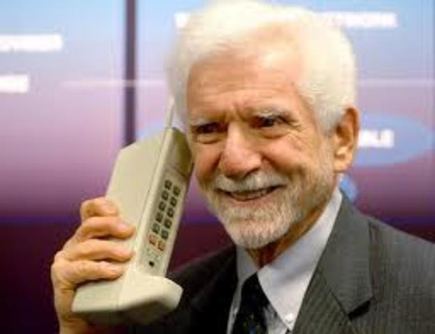 Mobile phone was first demonstrated by Dr. Martin Cooper.