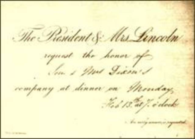 White House Invitation from President Lincoln
