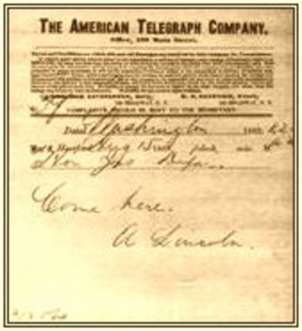 Telegram From Lincoln