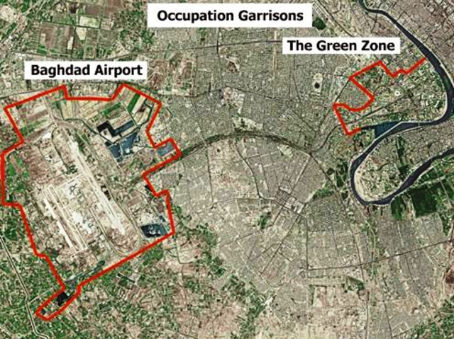 US handed conrol of Green Zone and Saddam Hussein's presidential palace to the Iraqi government
