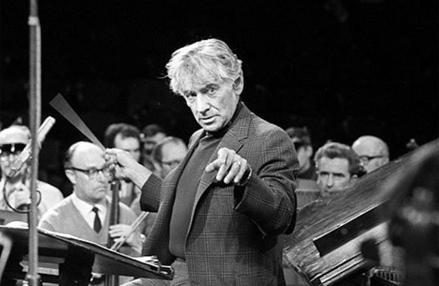 Leonard Bernstein, American composer and conductor, born
