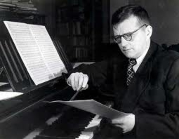 Dmitri Shostakovich, Russian composer, born