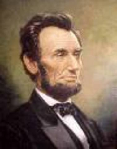 Lincoln took the oath of office to become President of the United States.