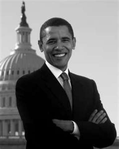 Barack Obama, The first African American man inaugurated as the 44th President of the United States