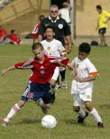 First time I played foot ball