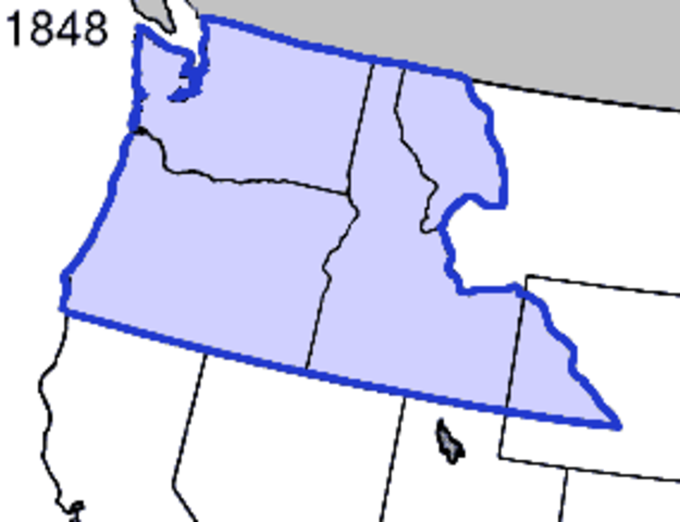 Oregon Territory Added to the Union