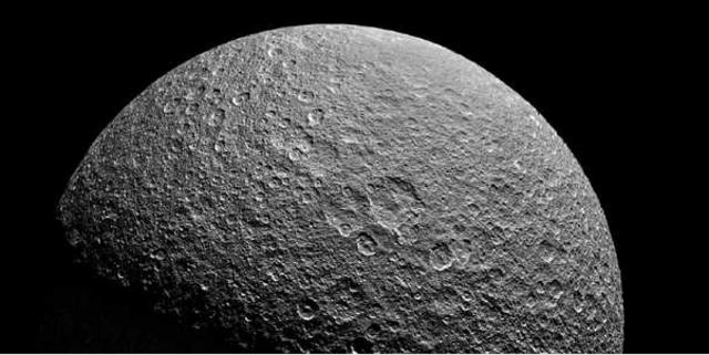 Rhea dicovered by Cassini