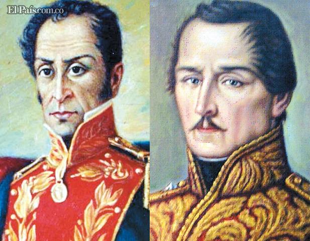 Resultado de imagen para simon bolivar santander