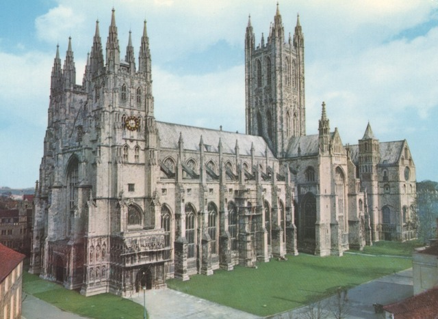 St. Augustine found Christian monestary at Canterbury, Kent.