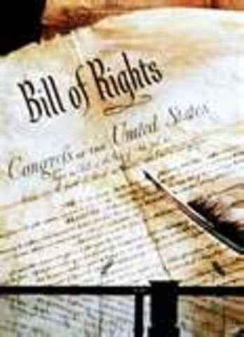 The Bill of Rights became law.