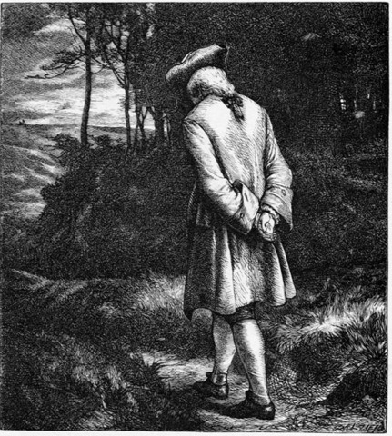 """Thomas Gray published """"Elegy in a County Courtyard."""