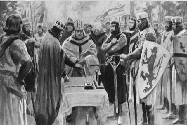 King John was forced to sign the Magna Carta.