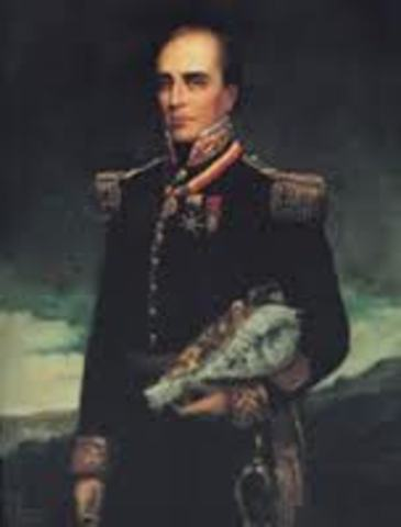 General Rafael Urdaneta depone al presidente Mosquera