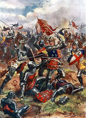 Beginning of the Hundred Years' War with France.