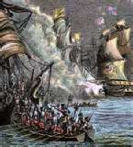 English Navy defeated the Spanish Armada.