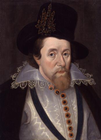James I died.