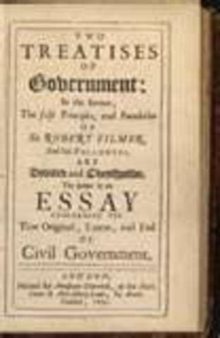 John Locke published his Two Treaties of Government.