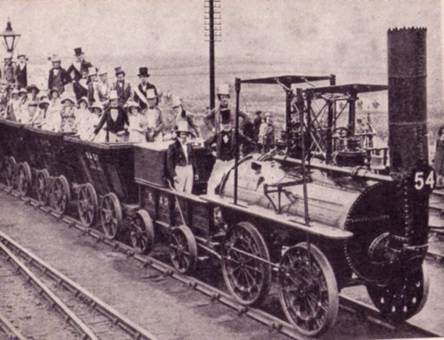 Liverpool-Manchester railway opens.