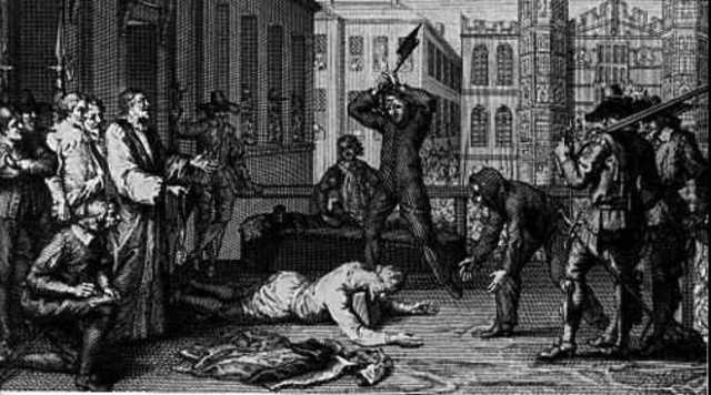 Charles I was beheaded.
