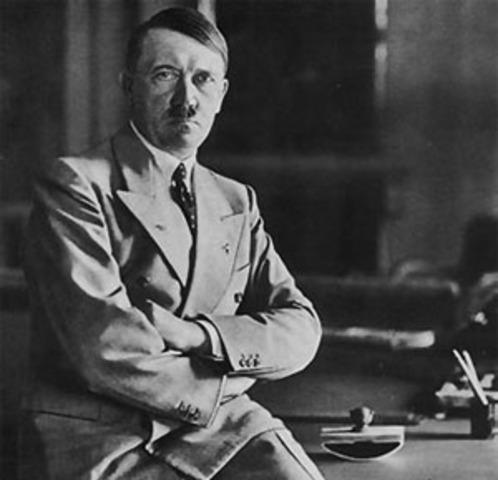 Hitler gains power in Germany.