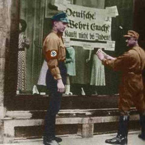 Anti- Jweish legislation enacted in Germany.