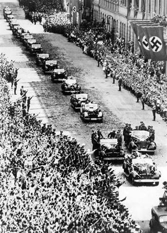 Germany invades Poland. Jews rounded-up and sent to concentration camps and work camps. World War II begins.