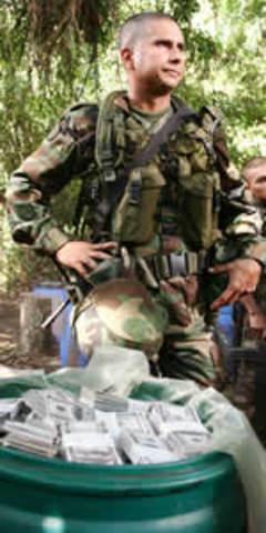 Guaca de las Farc encontrada por Militares
