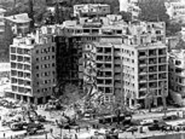 U.S. embassy was bombed in Beirut