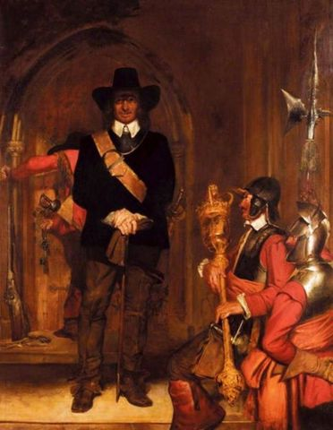 Oliver Cromwell became Lord Protector.