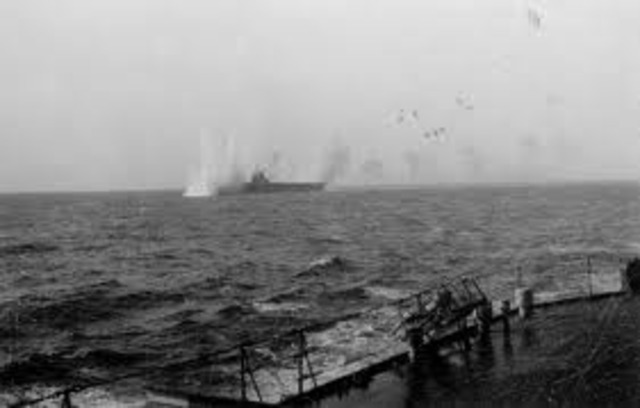 HMS Illustrious was attacked by Axis bombers.