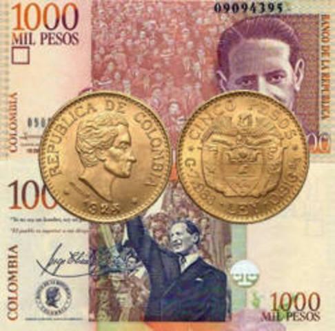 El peso ha sido la moneda de Colombia desde 1837. El peso reemplazó al real.