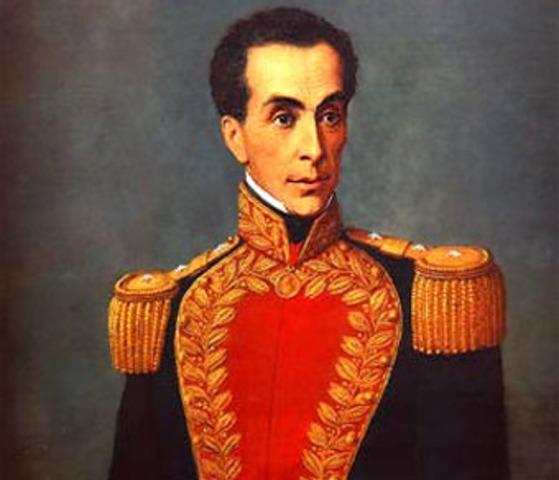 Simon Bolivar perimer persidente de la republica