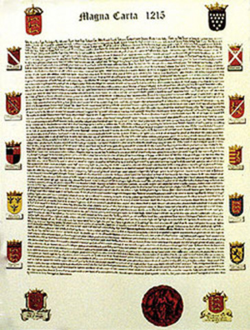 Carta Magna de Inglaterra (1,215)