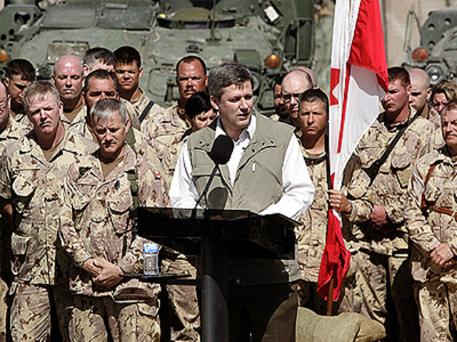 Canada with NATO enters Afghanistan