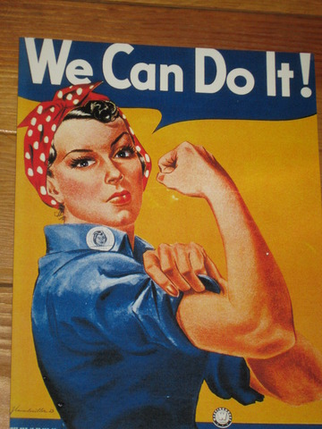Rosie the Riveter enters the work force