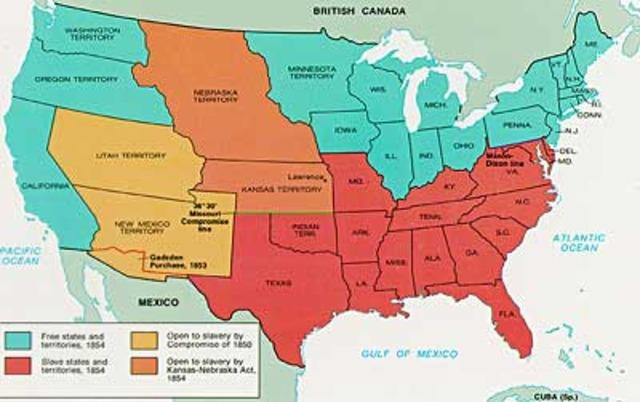 Kansas-Nebraska Act- Issue that upset Northerners