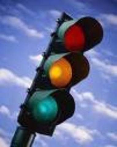 J P Knight invents traffic lights.